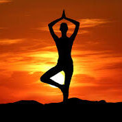 Yoga Sillhouette Sunset